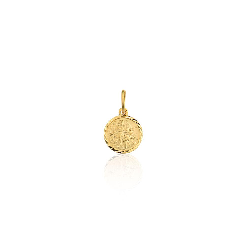 Medalha Anjo da Guarda Ouro Amarelo 18K - Religioso - cljoias d1a1f95745