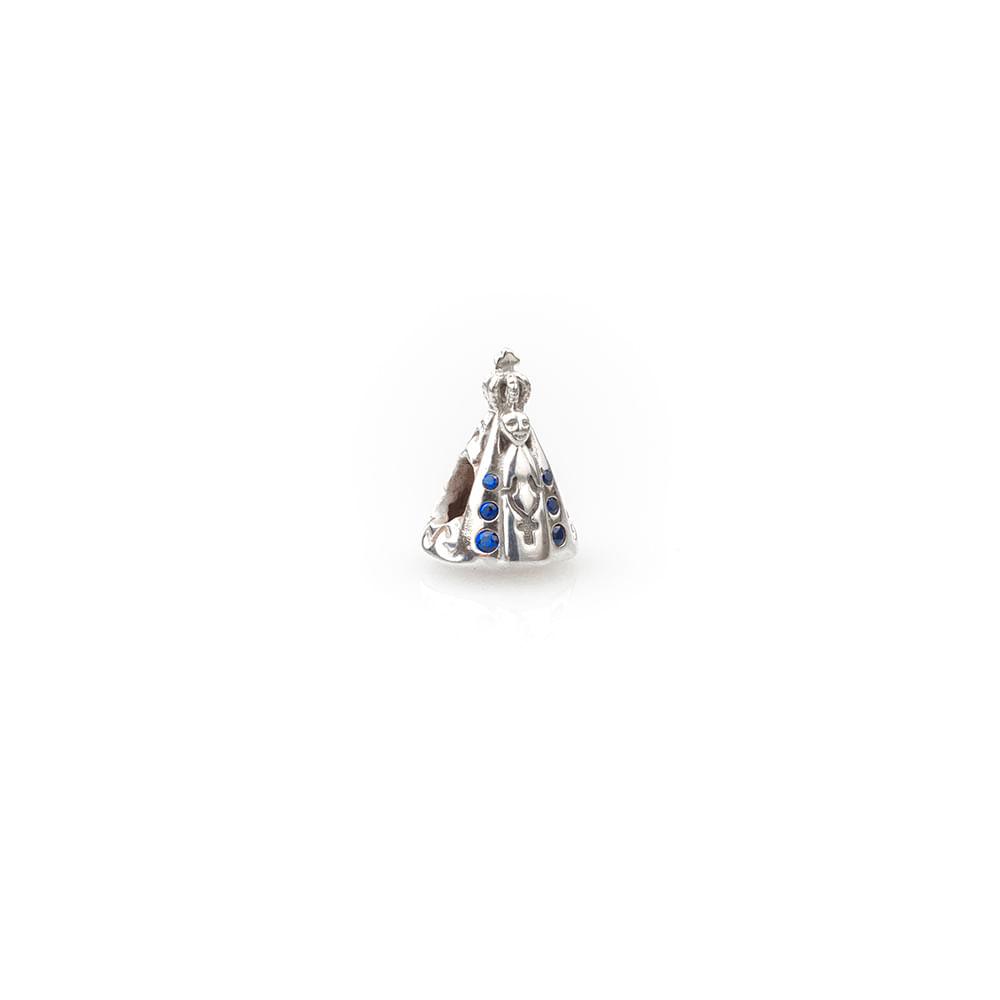 Berloque Nossa Senhora Aparecida Prata e Zircônia - Joy Fé - cljoias 30603a3de0