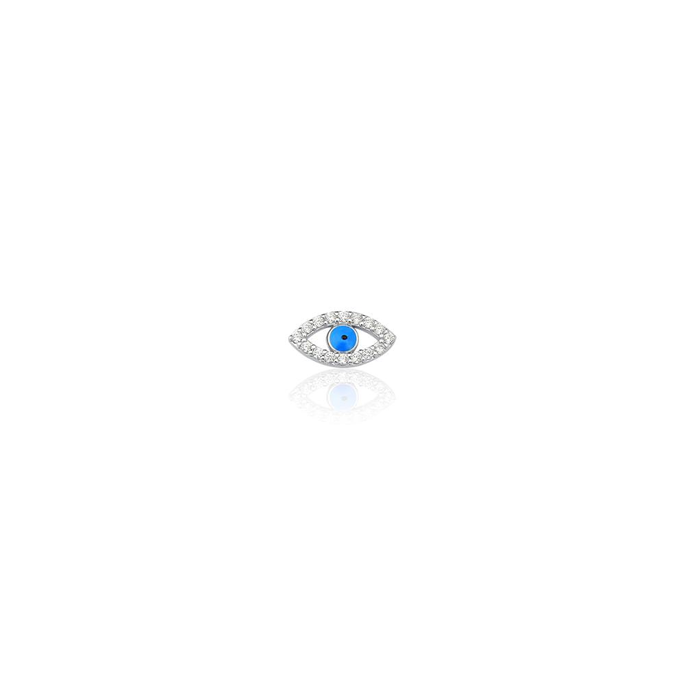 Charm Olho Grego Prata e Zircônia - Joy Lockets - cljoias e596632f64