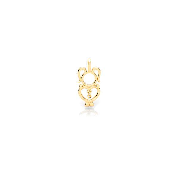 Pingente-Menina-Ouro-Amarelo-18K-e-Diamante---My-Babies