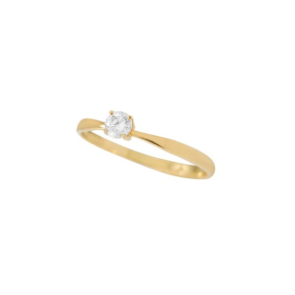 Anel-Solitario-Ouro-Amarelo-18K-Diamante-20-pontos---Endless