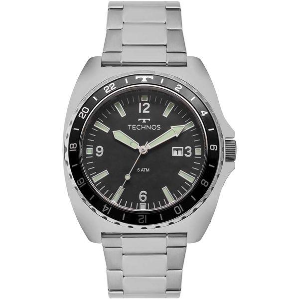 195cc629118 Relógio Technos Masculino Perfomance Racer Prata 2115MOB 1P - cljoias