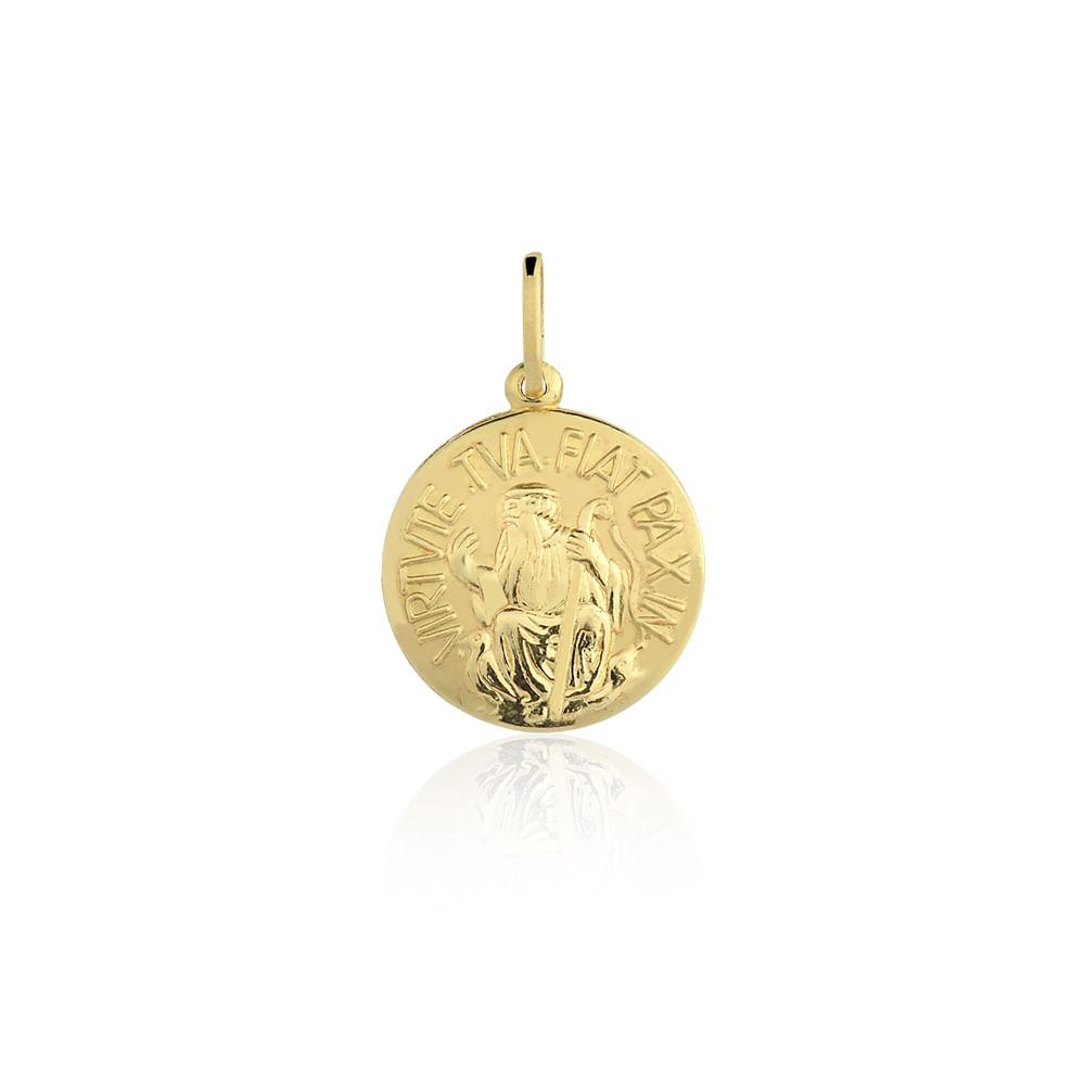 3176e5c6f36cd Medalha São Bento Ouro Amarelo 18K - Religioso - cljoias