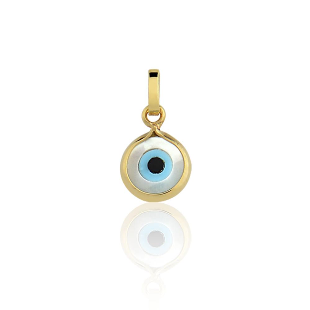 Pingente Olho Grego Ouro Amarelo 18K - Religioso - cljoias 061e0ba9ac