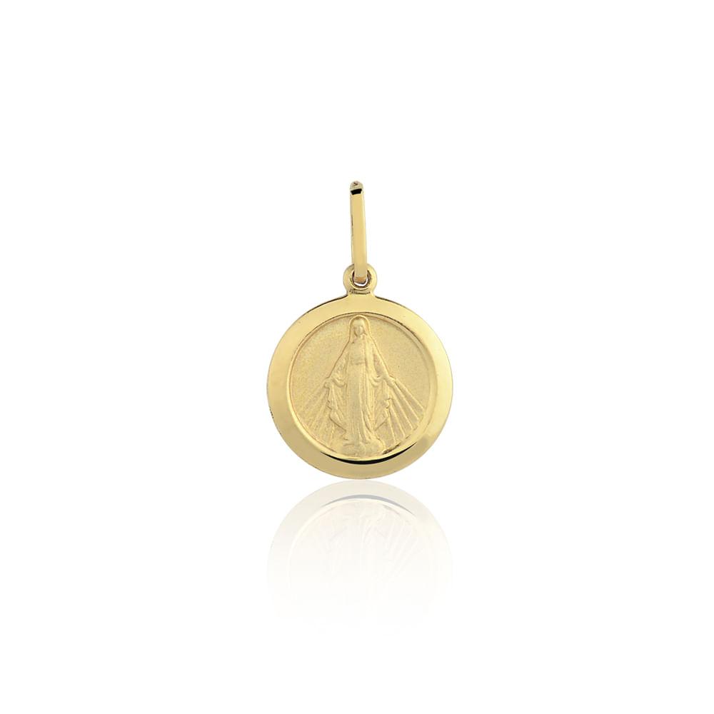 326922dbe750d Medalha Nossa Sra. das Graças Ouro Amarelo 18K - Religioso - cljoias