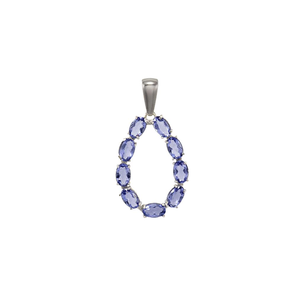 Pingente Prata 925 pedra sintetica Vogue PG 027055 AZUL - cljoias 6896048868
