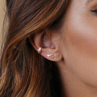 e9d3dbadb619e 2 · CL Joias · Brinco Ear Cuff Ouro Amarelo e Rosa 18K ...